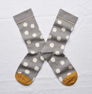 Bonne Maison Polka-dot grey crew sock