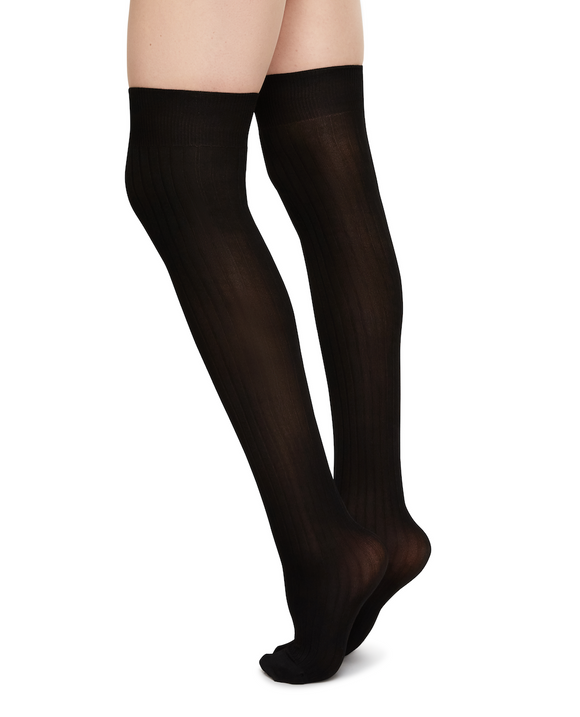 Knee High Socks, Ella Rib Viscose- No slip!