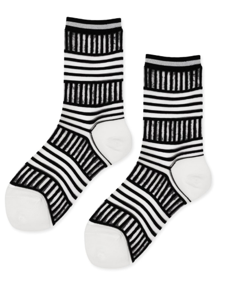 Hansel from Basel Zig Zag Crews Sheer Socks