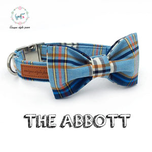 """The Abbott"" Dog Bow Tie Leash Set"