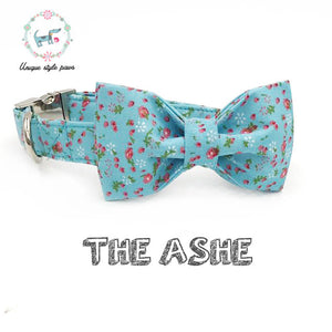 """The Ashe"" Dog Bow Tie Leash Set"