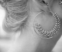 Big Swirl Hoop Earrings