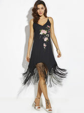 Flower Embroideried A-Line Dress