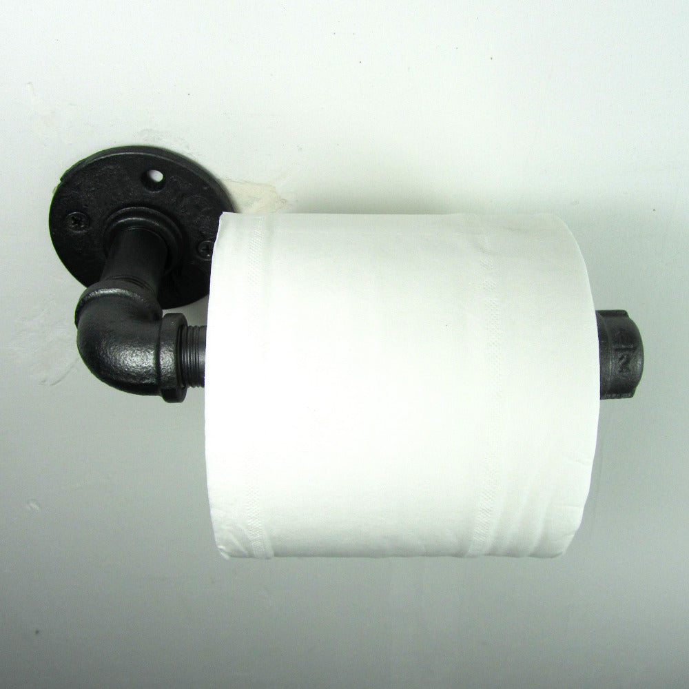 Industrial Iron Pipe Wall Mounted Toilet Paper Holder