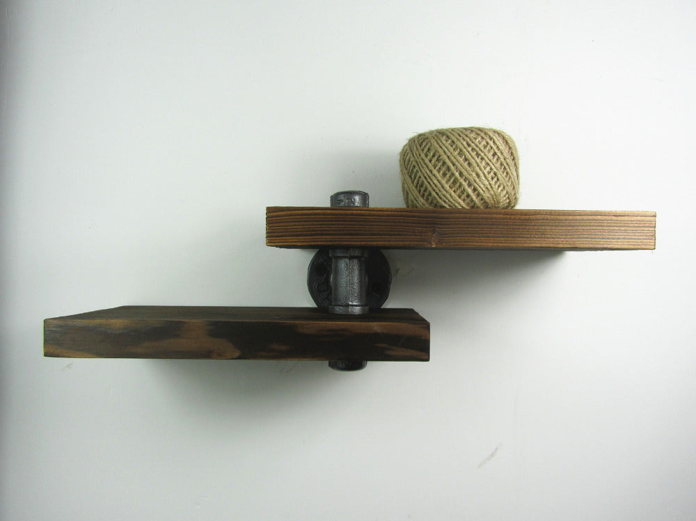 Industrial Iron Pipe Shelf