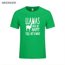 Llamas Make Me Happy You Not So Much T-Shirt