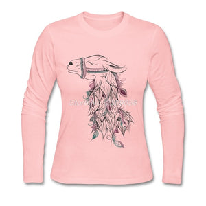 Women's Beautiful Llama Long Sleeve T-shirt