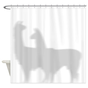 Llamas Shadow Shower Curtain
