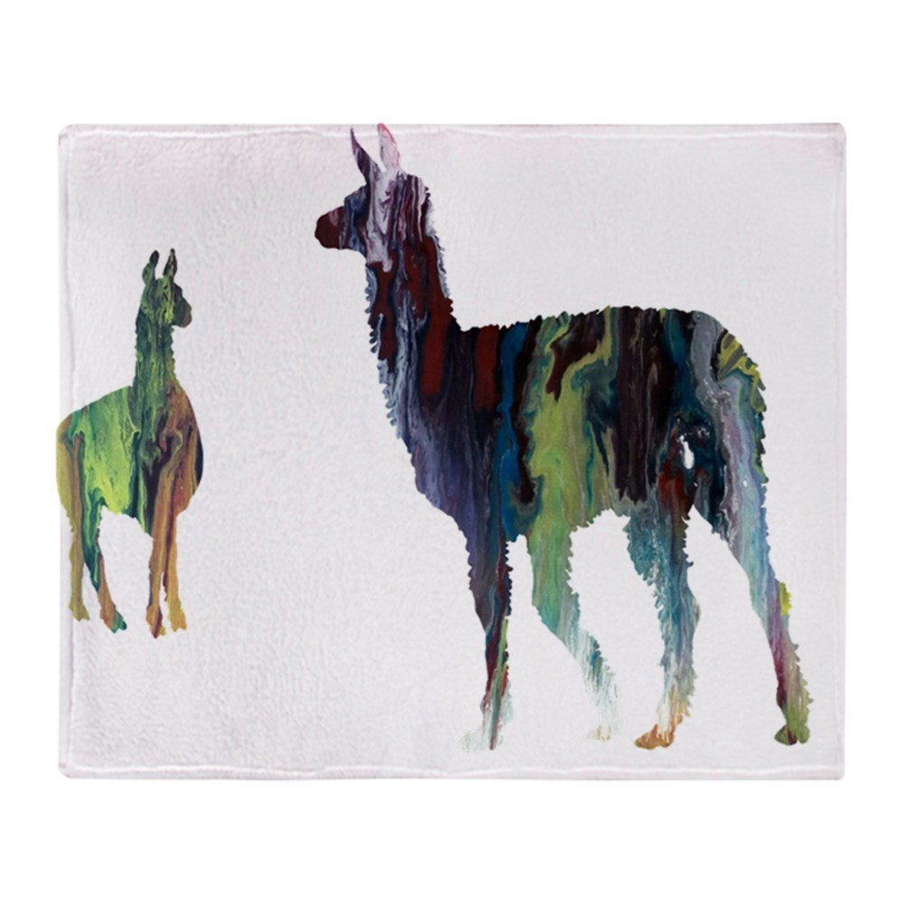 Llama Soft Fleece Throw Blanket