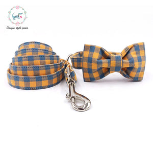 """The Orange"" Dog Bow Tie Leash Set"