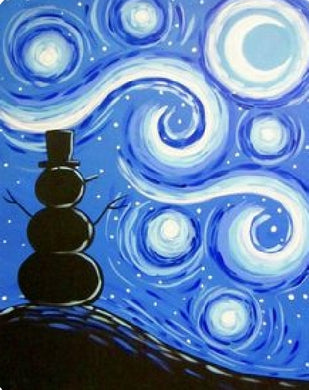 Starry Night Snowman Painting Party Make & Take