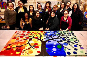 Group Tree Painting Party Make & Take