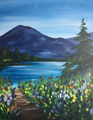 Mountain Lake Painting Party Make & Take
