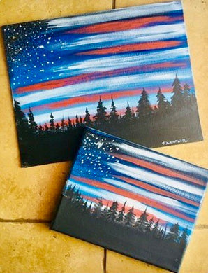 Patriotic SKY Painting Party Make & Take