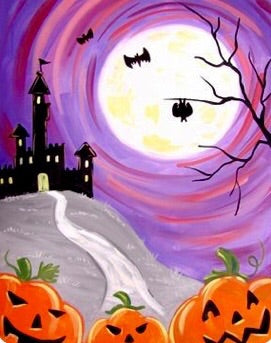 Pumpkins And Haunted House Painting Party Make & Take
