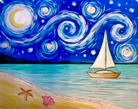 Van Gogh Sail Boat Painting Party Make & Take