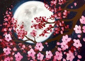 Cherry Blossoms And Moon Painting Party Make & Take