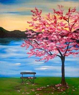 Cherry Blossom Lake Painting Party Make & Take