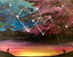 Hearts In The Stars Painting Party Make & Take