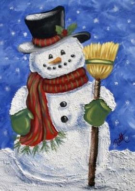 Snowman With Broom Painting Party Make & Take