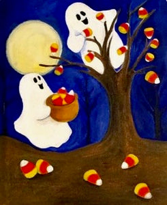 Candy Corn Ghosts Painting Party Make & Take