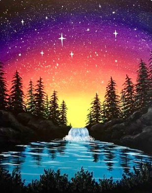 River Waterfall Painting Party Make & Take
