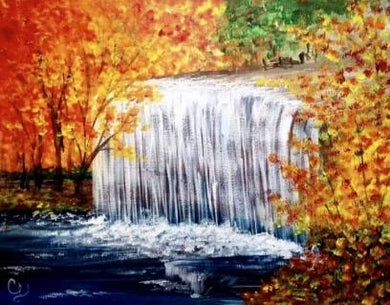 Fall Waterfall Painting Party Make & Take