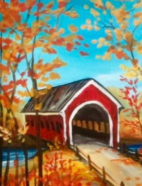 Fall Covered Bridge Painting Party Make & Take