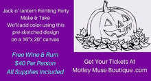 Jack-o'-lantern Painting Party Make & Take