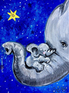 Elephant Mama And Baby Painting Party Make & Take