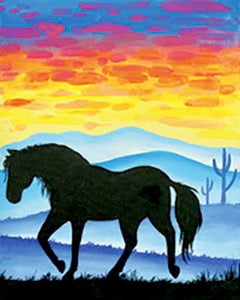 Horse In The Mountains Painting Party Make & Take