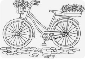 Bicycle With Flowers Painting Party Make & Take