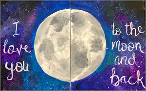 Single or Double Canvas Painting Party Make & Take