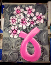 Flowers in Ribbon Painting Party Make & Take