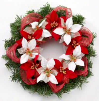 Poinsettia Wreath Party Make & Take