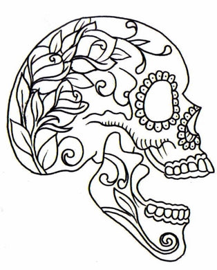 Skull With Flowers Painting Party Make & Take