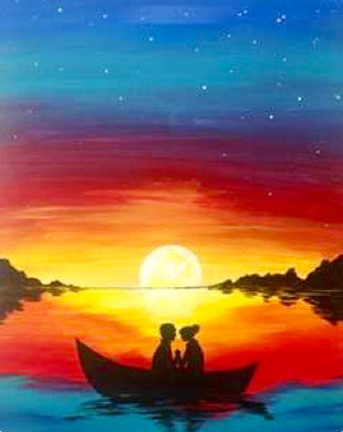 Sunset Boat Ride Painting Party Make & Take