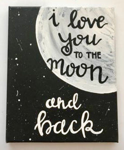 To The Moon Painting Party Make & Take