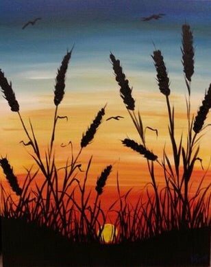 Wheat Sunset Painting Party Make & Take