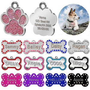 Bone Shape Stainless ID Tags