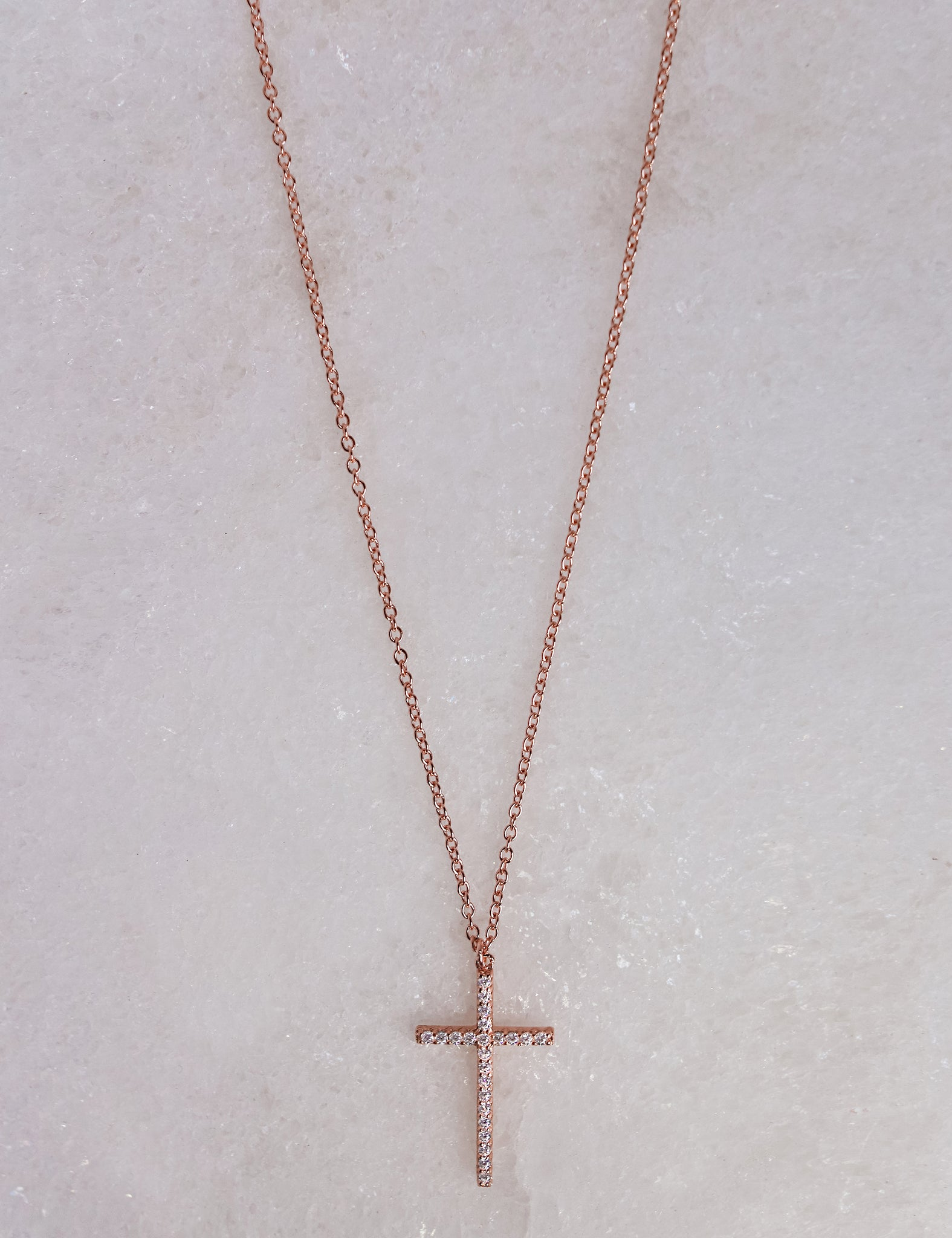 Rose Cross Necklace
