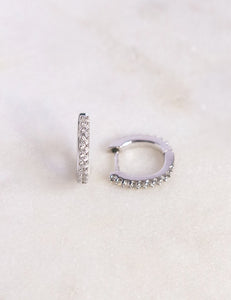 Mini Huggie Silver Hoops