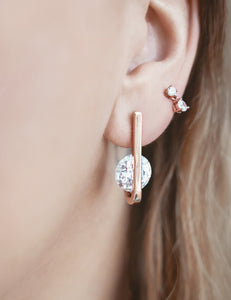 Turino Clear Zircon Earrings