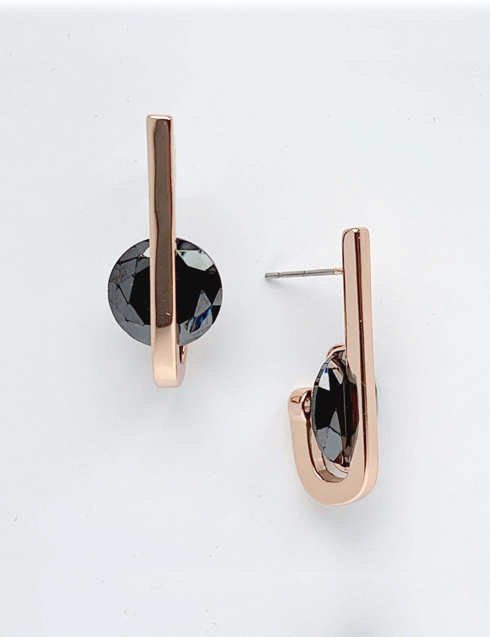 Turino Black Zircon Earrings