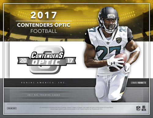 2017 Panini Contenders Optic Football 10 Box Inner Case Break  PYT #1