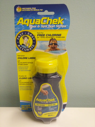 AquaCheck Pool & Spa Test Strips - Free Chlorine, pH, Alkalinity, Stabilizer