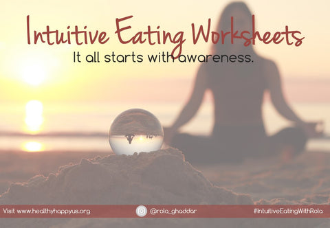 Free downloadable Intuitive eating worksheets