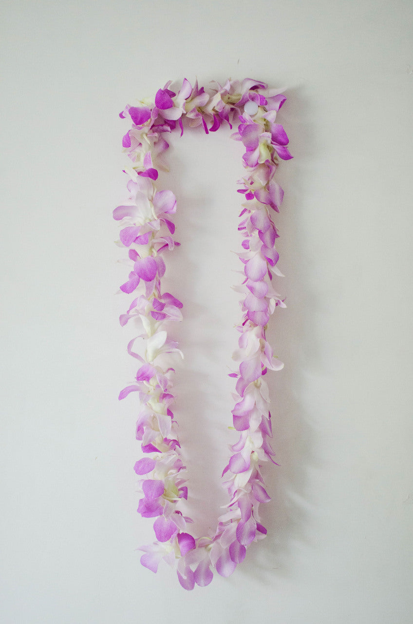 Single Hot Pink Orchid Lei
