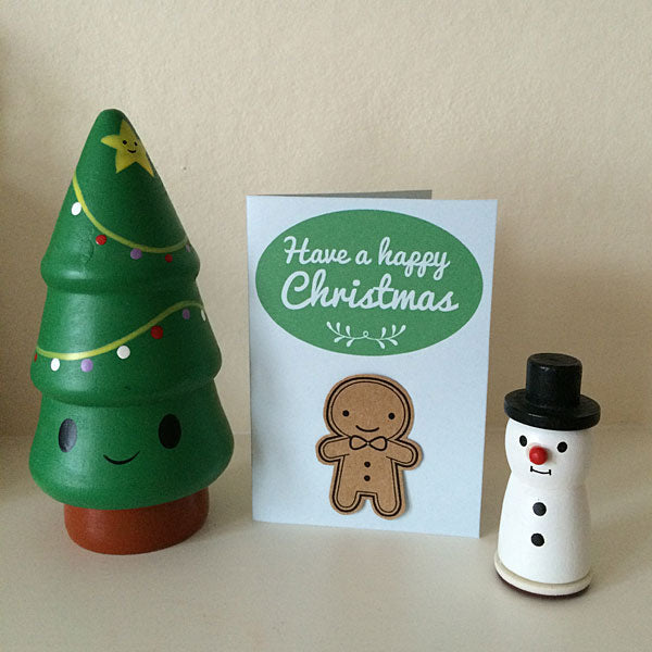 Gingerbread Man printable Christmas cards