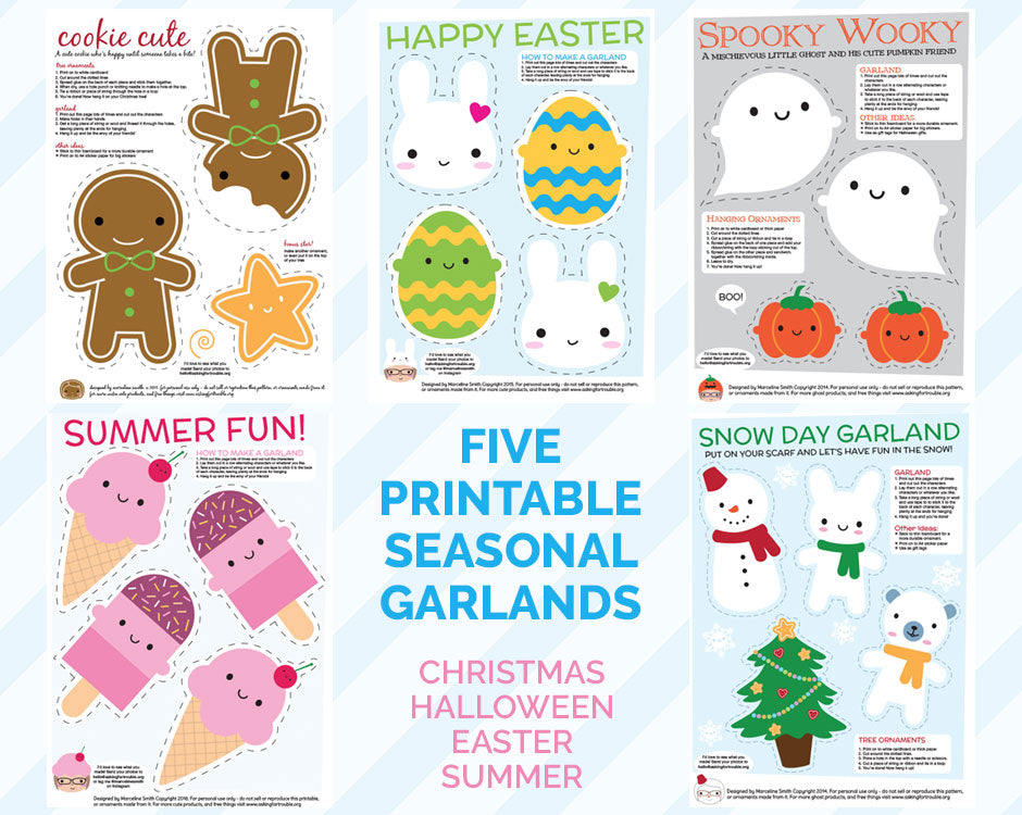 Free printable garlands